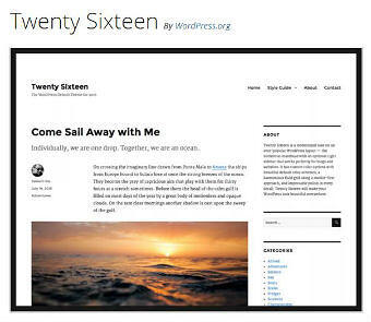 WP Twenty Sixteen Theme