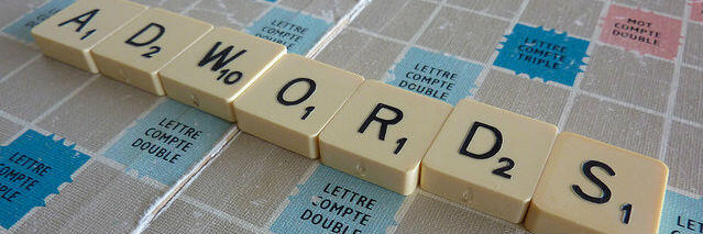 AdWords Updates - Adwords written in scrabble