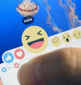 New facebook reactions haha