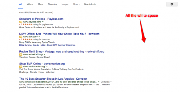 No more sidebar ads AdWords at Google IO