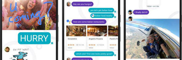 Google Allo screenshots