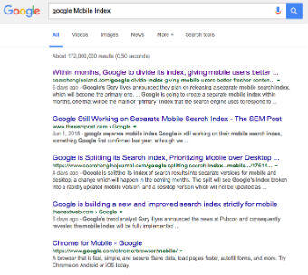 Google Splits The Search Index: Now Mobile First