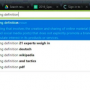 Definitions in the Chrome Search Bar
