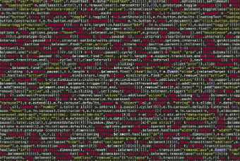 Image of code fragment showing tracking tags weighing down your site with too much code. Google tag manager code shown.